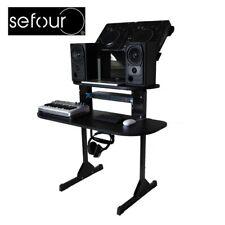Sefour X15 XD150-901 Portable Compact Studio Console DJ Deck Stand Gloss Black