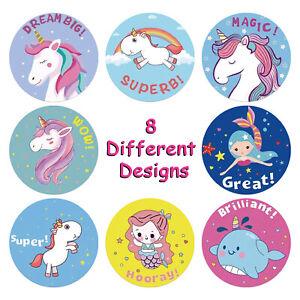 New 100pcs Unicorn Sticker Sticker Cute Animals Kids Classic School Teacher Toy