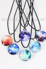 6 Galaxy Double Sided Glass Fashion Necklaces Wholesale Costume Jewelry Lot USA