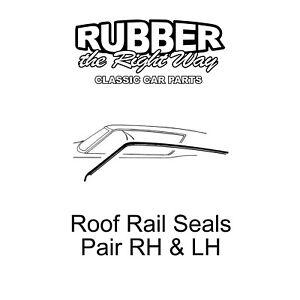 1968 1969 Ford Fairlane / Torino Roof Rail Seals - Pair - 2 Door Fastback