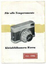 Kleinbildkamera Werra aus Jena Für alle Temperamente ausklappbarer Werbeflyer