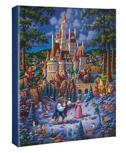 Eric Dowdle Beauty and the Beast Finding Love 14 x 11 Gallery Wrapped Canvas