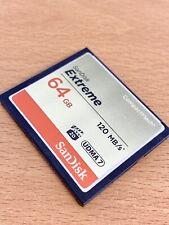 SanDisk Extreme 64GB Compact Flash Card UDMA 7 120 MB/s CF Card