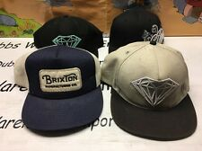 Diamond Supply Co BRIXTON manufacturing Hurley Vintage SnapBack Hat cap Lot Of 4
