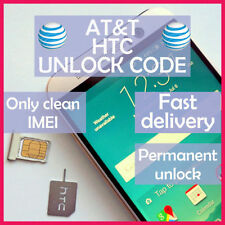 UNLOCK SERVICE CODE FOR AT&T HTC ONE X S V M7 M8 M9 DESIRE 601 510 320