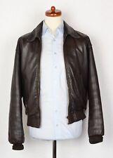 Redskins Lederjacke Pilot Flight Gr M Vintage Leather Jacket Coat Biker Braun