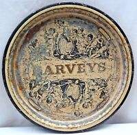 HARVEY'S LIVERPOOL BRANCH VINTAGE ADVERTISING TIN SERVING TRAY COLLECTIBLES RARE