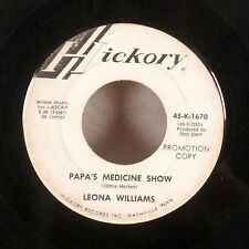 """Leona Williams Papa's Medicine Show I Can't Tell My Heart That 45 7"""" Hickory GD"""