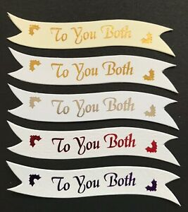To You Both Christmas banners / card toppers / embellishments sentiments pk10