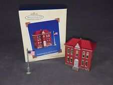 Hallmark ~ Keepsake Ornaments ~ Schoolhouse and Flagpole ~ town and country 2003