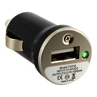 Chargeur voiture Smartphone Allume-cigare Port USB Indicateur LED - Noir