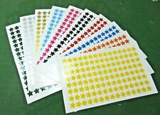 STARS, SELF ADHESIVE VINYL, STAR STICKERS, 10 COLOURS, 20mm, 120 PER SHEET