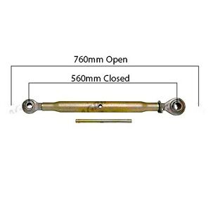 TOP LINK (Cat. 1/2) 560mm / 760mm FOR MASSEY FERGUSON CASE FORD TRACTORS.