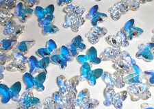 Swarovski Crystal AB 8x7mm Faceted Butterfly (5754) Beads - Set of 5