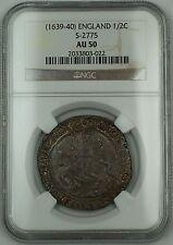 (1639-40) England Half Crown 1/2C Silver Coin S-2775 Charles I NGC AU-50 AKR