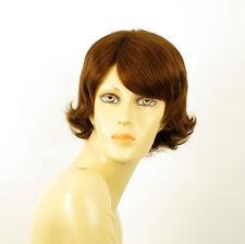 perruque femme 100% cheveux naturel châtain clair cuivré ref EMILIE 30