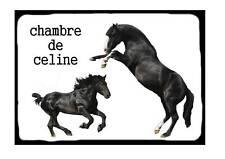 Pancarte personnalisée de porte  + prénom  Cheval 03