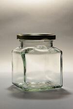 200  X  130ML  (4 / 5 OZ) SQUARE GLASS & LIDS -JAM JAR / HONEY - WEDDING FAVOURS