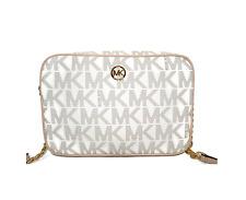 Michael Kors Fulton Signature PVC MK Logo Large EW Crossbody Purse Shoulder Bag