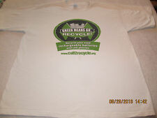 Call 2 Recycle Green Means Go Recycling Advertising T Shirt XL Save the Earth