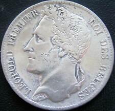 Belgie Belgium Zilveren 5 Francs 1833 Positie B