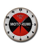 "MOTO RUMI 250MM/10"" DIAMETER METAL WALL CLOCK,CLASSIC MOTO RUMI MOTORCYCLES."