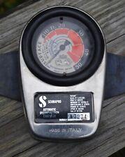 Scubapro Sos Diving Depth Gauge Strap Made In Italy Vintage