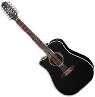 Takamine EF381SC Left Hand 12 String Acoustic Guitar in Black
