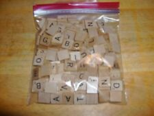 Lot of 183 Wooden Scrabble Tiles ~ Crafting Jewelry ++