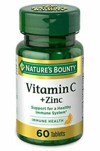 Vitamin C + Zinc by Nature's Bounty, Supplement, 60 Count (Pack of 1)