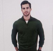 Nautica Big and Tall Solid Quarter-Zip Fleece  NWT Green Sweater 3XL  H