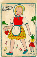 """Vintage 1940's Sewing Pattern Make Do And Mend WWII Rag Doll & Clothes RARE 18"""""""