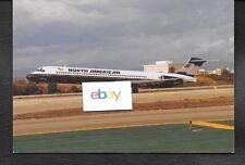 NORTH AMERICAN AIRLINES MD-83 #N183NA LANDING LOS ANGELES POSTCARD
