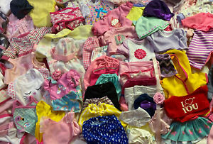 Huge Baby Doll Clothes accessories Mixed 100 Piece Lot Dresses Outfits Blankets