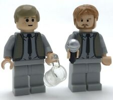 LEGO 2 NEW WEDDING SINGERS BUSINESSMAN LAWYER MINIFIGURES AND MICROPHONE