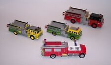 LOT OF FOUR FIRE ENGINES BOLEY 1/87 JOHN DEERE HALMARK 1/76 1988 FORD C8000 MINT