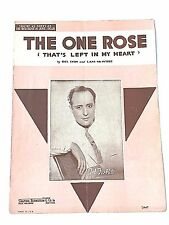 "Vintage ""The One Rose"" Sheet Music Dated 1936"