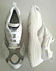 PRADA men's shoes calf and net authentic PRADA sport style logo 9,5UK/ US10.5