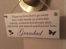 Friendship Sign Best Friend Gift Novelty Shabby Chic Plaque - Grandad Forever