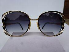 Vintage Tura 825 Ebo 136Mm Oversized Butterfly Sunglasses Frames Japan