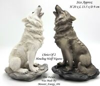 💙 Howling Direwolf Wolves Table Top Display Ornament Figurine Figure Statue New