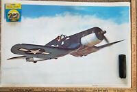 Chance Vought F4U Corsair Poster WWII Korean War In Flight Rolled In Sleeve Rare