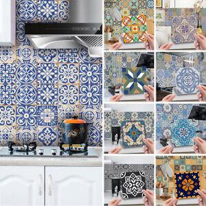 24X Self Adhesive Mosaic Tile Stickers Wall Sticker Art Decals Kitchen Decor AU