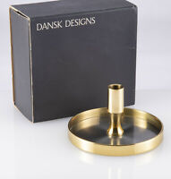 Mid Century Mod Dansk Designs Denmark IHQ Brass & Steel Candle Holder Jens Quist