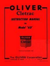 Oliver Cletrac Ad Crawler Service Operators Manual Ol