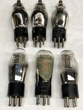 6 Early Vintage Radio Tubes c.1920s &Up - RCA Raytheon Sparton Sylvania National
