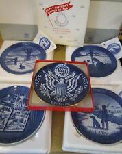 Vintage 1970's Royal Copenhagen plates lot of 5 - excellent condition