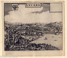 Luzern - Lucern - Kupferstich Zeiller 1655 Selten!