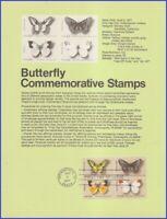 USA7 #1712-15 U/A SOUVENIR PAGE FDC BL4  Butterflies