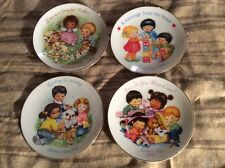 Vintage Collectible Avon 4pc. Set Of Mother'S Day Plates 1983 1989 1990 1992